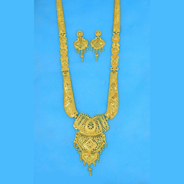Mahavir Forming Gold Necklace Set - RS SET 102