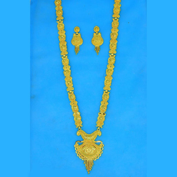 Mahavir Forming Gold Necklace Set - RS SET 105