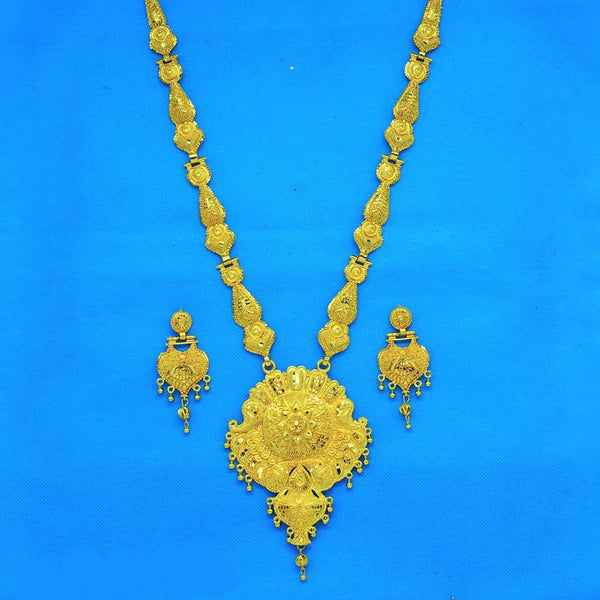Mahavir Forming Gold Necklace Set - RS SET 108