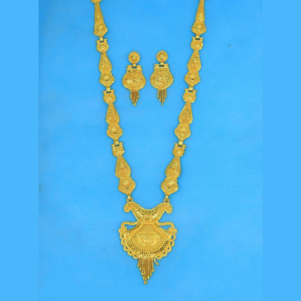 Mahavir Forming Gold Necklace Set - RS SET 111