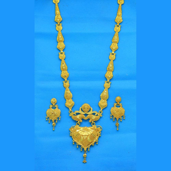 Mahavir Forming Look Gold Plated Long Necklace Set - RS SET 125