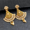 Shreeji Creation Gold Plated Stylish Dangler Earrings