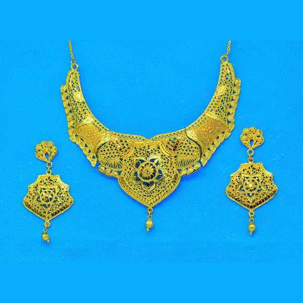 Mahavir Forming Gold Necklace Set - SI SET2