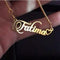 Kriaa Gold Plated Personalized Name Necklace