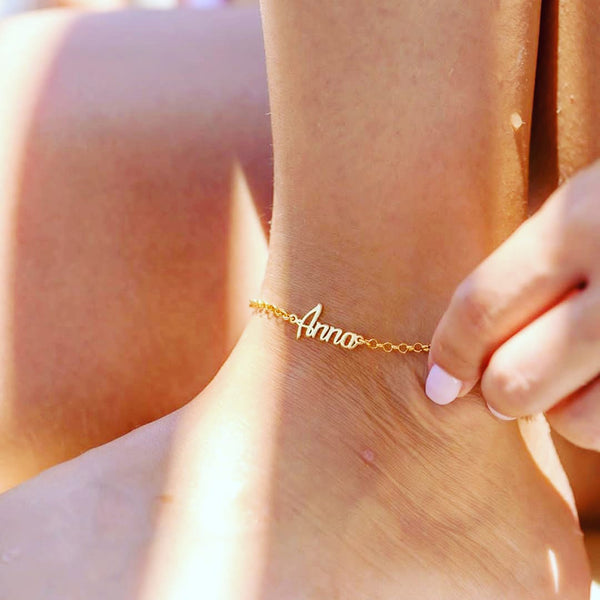 Kriaa Customized Name Anklet