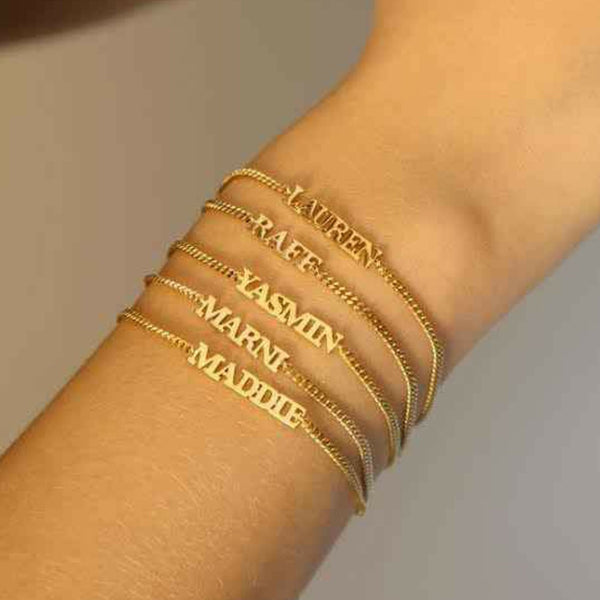 Kriaa Gold Plated Personalized Name Bracelet