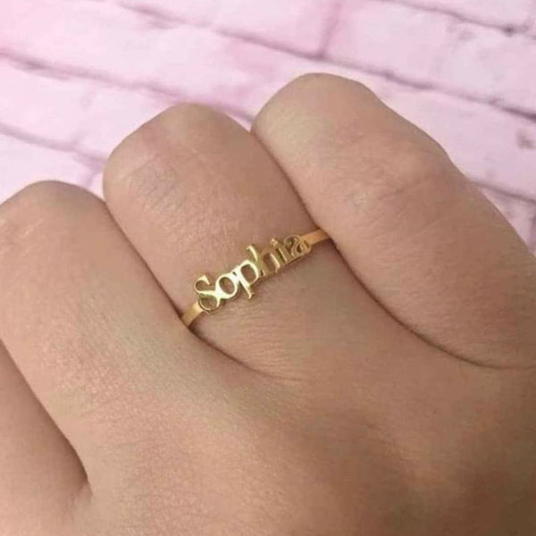 Kriaa Customized Name Rings