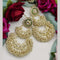 Om Creation Gold Plated designer Meenakari And Kundan Pearl Dangler Earrings -OmEar91