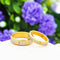 Yellow Chimes Love Forever Gold Plated Proposal Couple Rings for Girls and Boys