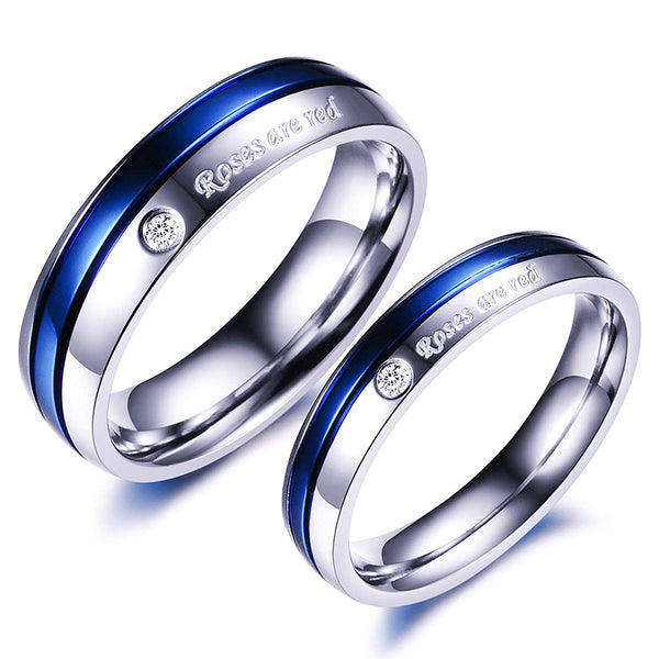 Yellow Chimes Platinum Plated Couple Ring For Girls And Boys