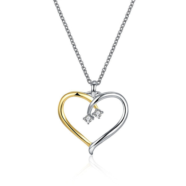 Yellow Chimes Express Your Feelings Swarovski Collection Joining Hearts Pendant for Girls & Women