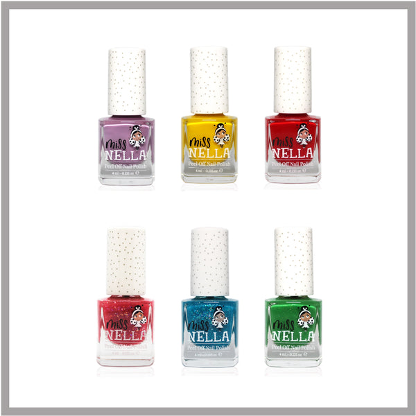 Bundle of 6 Miss Nella Kids Nail Polishes