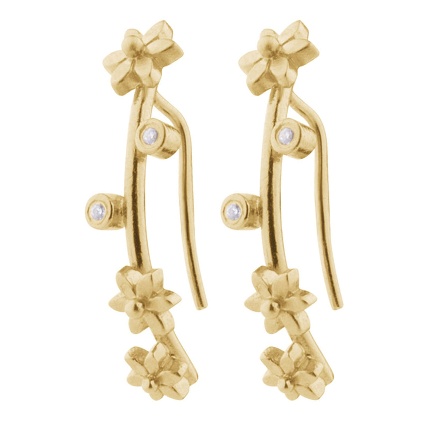 Flower Earrings Pernille Corydon, H. Skjalm P.
