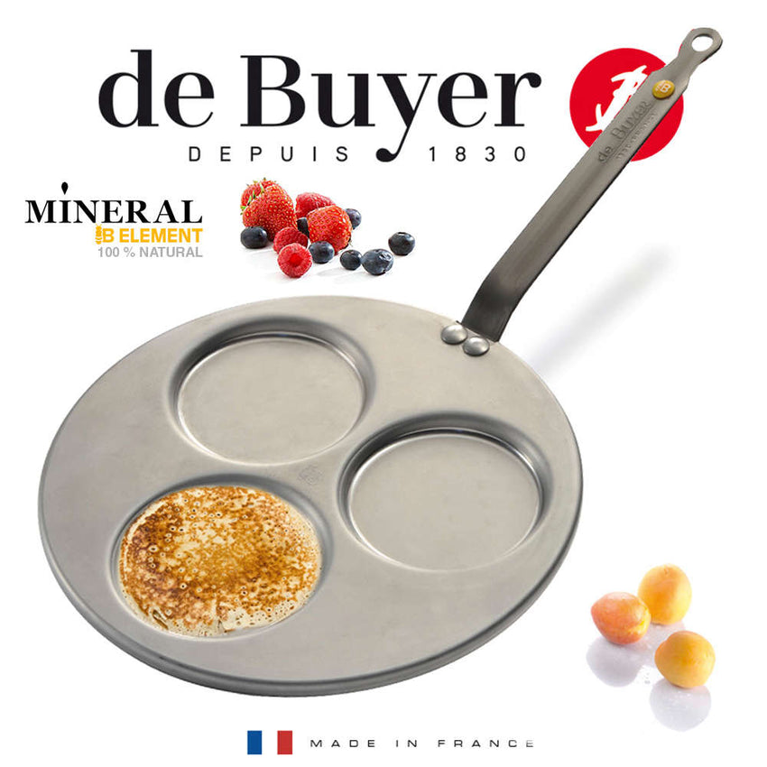 De Buyer / Blinis Pande Mineral B, Element, 27 cm. / 5612.03