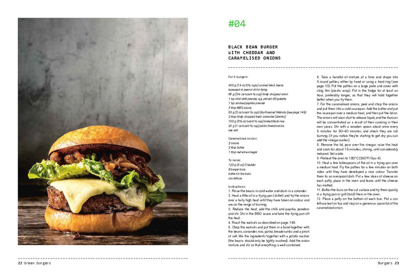 Hardie Grant Books / Green Burgers - Creative vegetarian recipes for burgers and sides / 9781784881436
