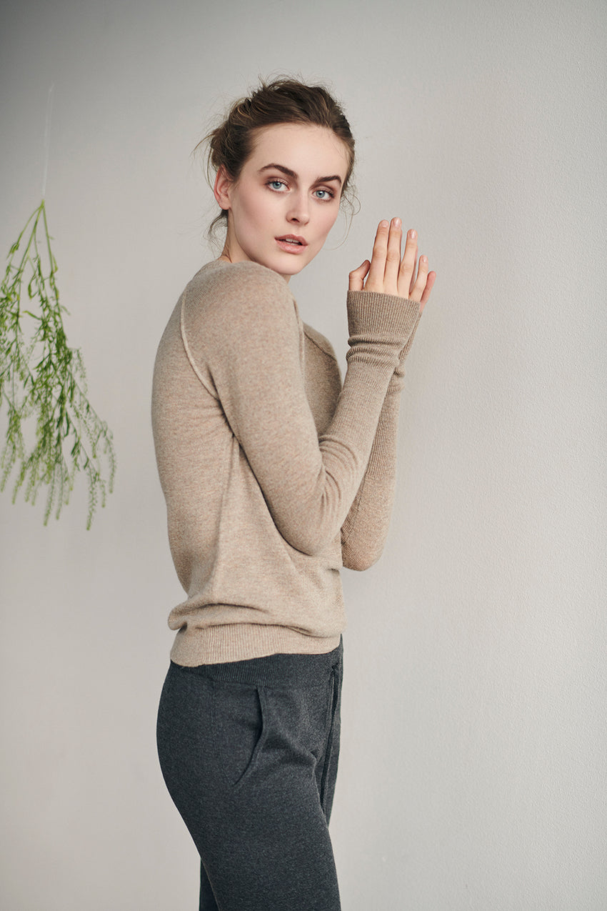 Bluse, cashmere CARE BY ME, H. Skjalm P.
