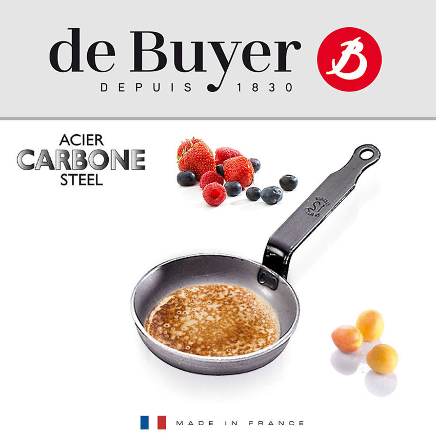 De Buyer / Blinispande Carbon Plus, 12 cm. / 5140.12