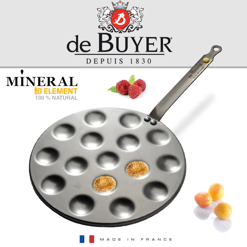 De Buyer / Mini-Blinis Pande Mineral B, Element / 5612.16