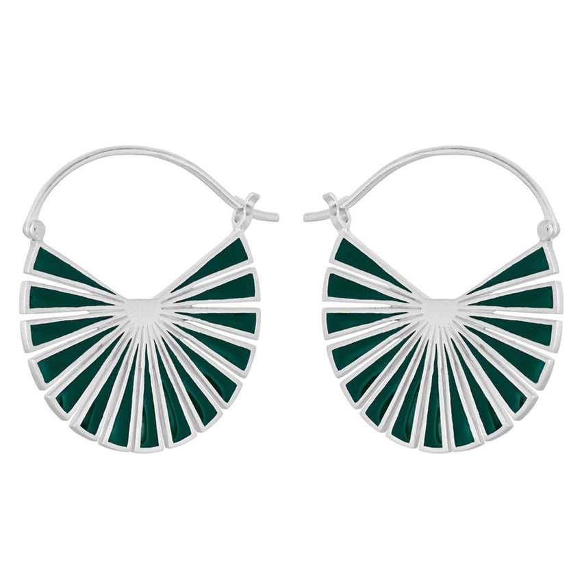 Flare Green Earrings Pernille Corydon, H. Skjalm P.