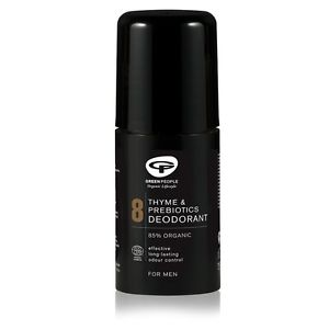 Green People Men's Care No. 8 Thyme & Prebiotics Deodorant, 75 ml.