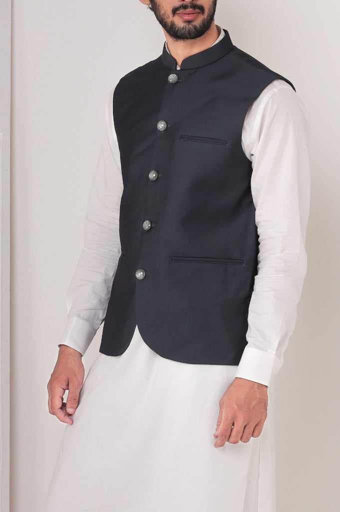 Waist coat For Men SKU: GA3378-Green - Diners