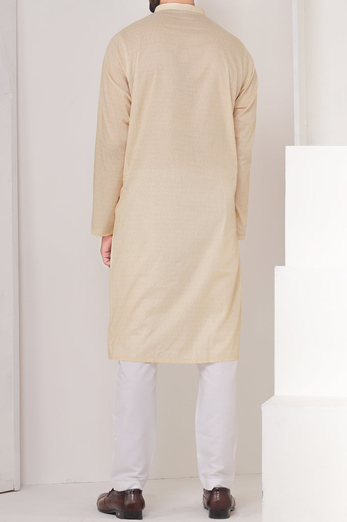 Formal Kurta SKU: EA2582-Fawn