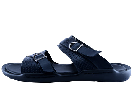 Slippers For Men in Blue SKU: SLP0056-BLUE