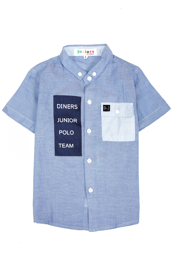 Boys Casual Shirt In Blue SKU: KBB-0220-Blue