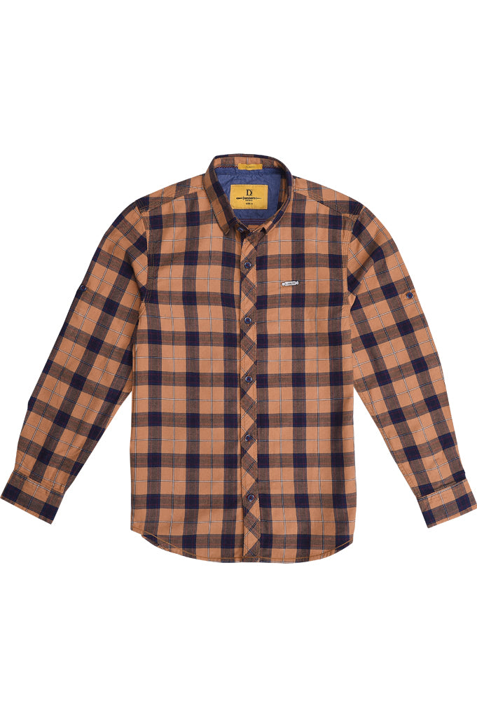 Boys Casual Shirt SKU: KBB 0243 Mustard