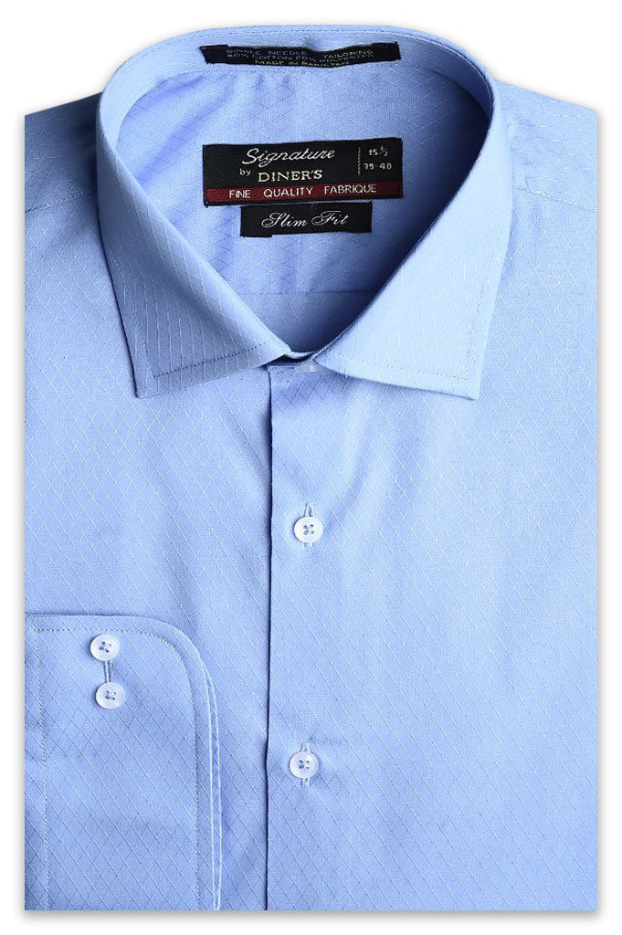 Formal Man Shirt in L-Blue AB19542 (Slim Fit) - Diners