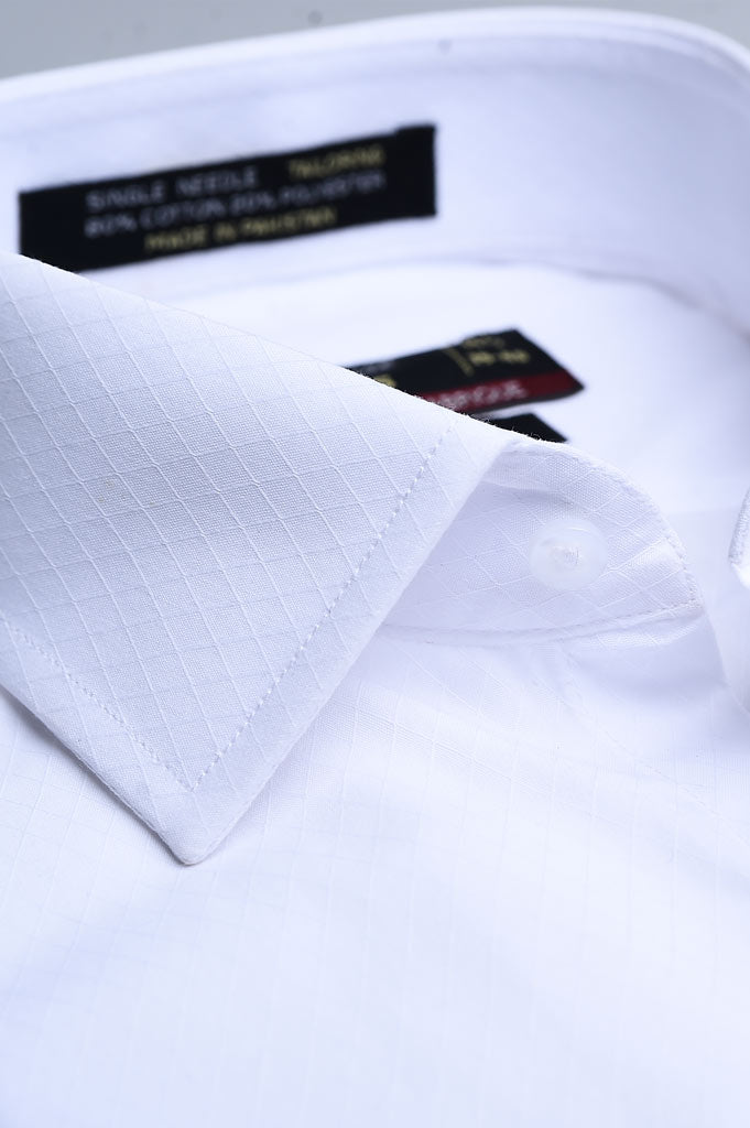 Formal Men Shirt in White AB19542 (Slim Fit)