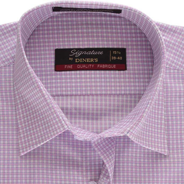 Formal Check Shirt in Purple SKU: AB13591-PURPLE