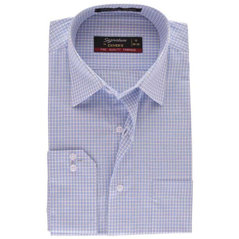 Formal Check Shirt in Sky-Blue SKU: AB13591-SKY-BLUE