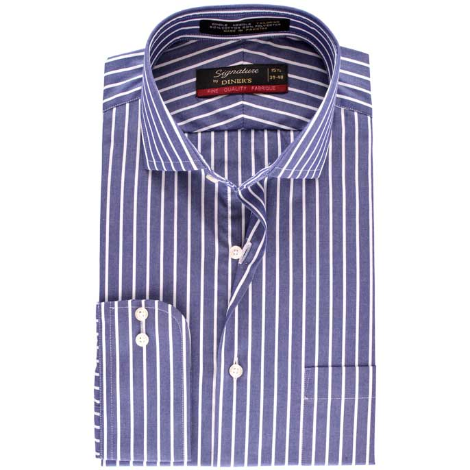 Formal Men Shirt SKU: AB16180-D-BLUE
