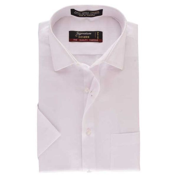 Formal Man Shirt in White (Half Sleeves) SKU: AB17423-White