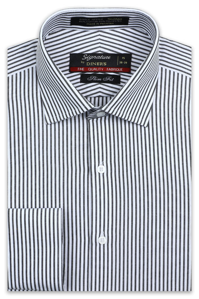 Formal Man Shirt in D-Grey SKU: AB19247-D-Grey - Diners