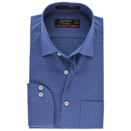 Formal Men Shirt in R-Blue SKU: AB19248-R-BLUE