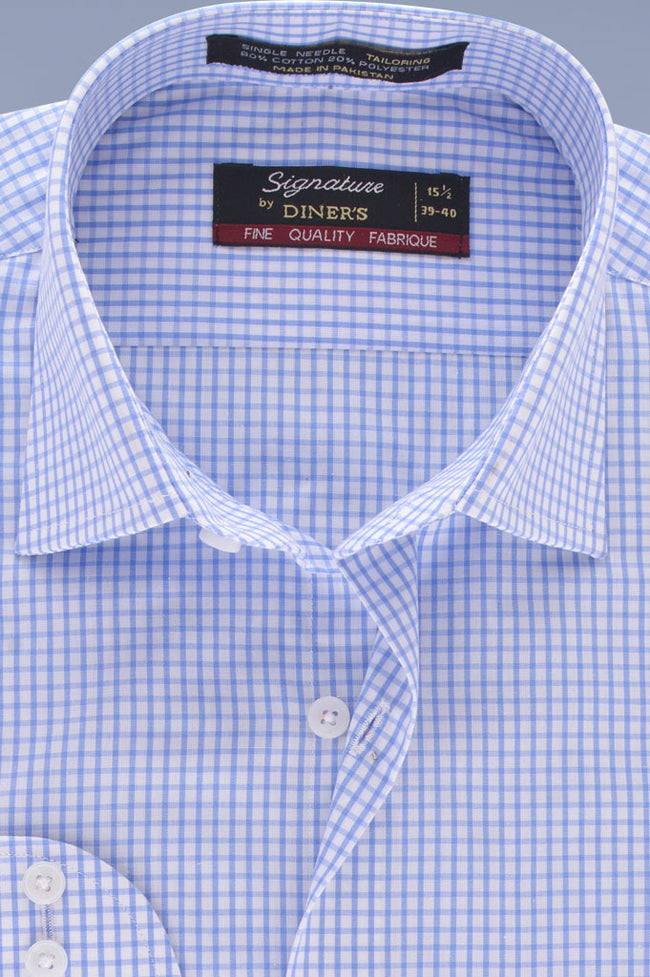 Formal Men Shirt in Sky Blue SKU: AB19254-SKY-BLUE
