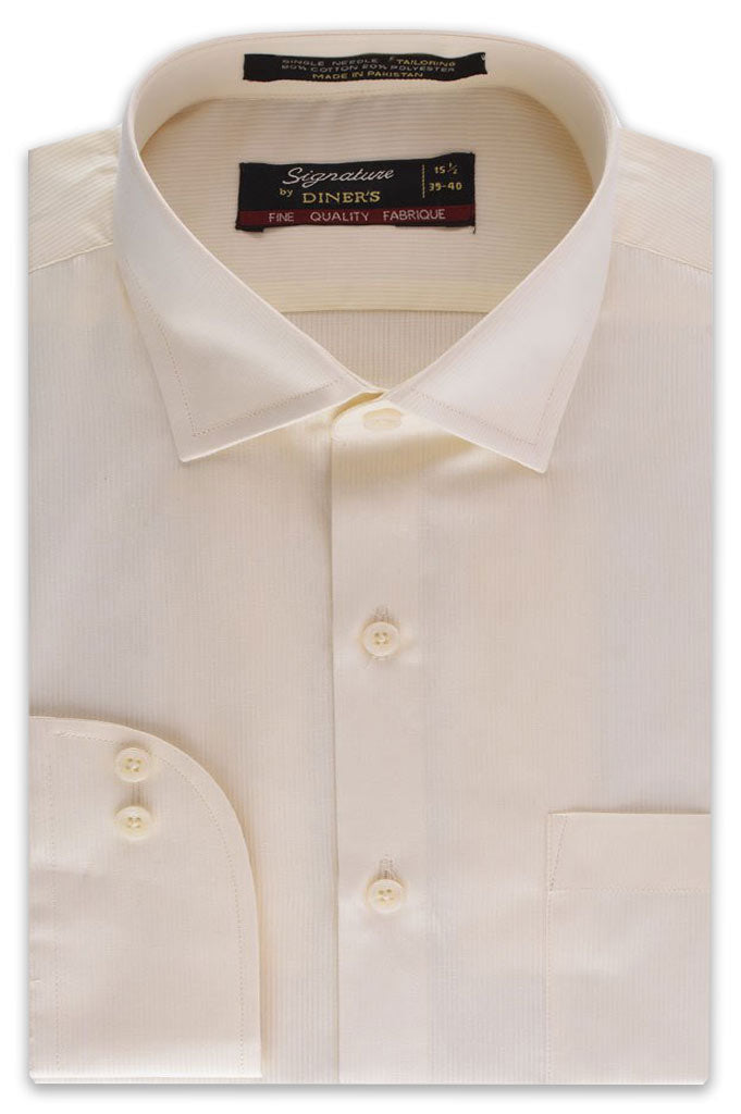 Formal Man Shirt in Cream AB19359 Slim Fit