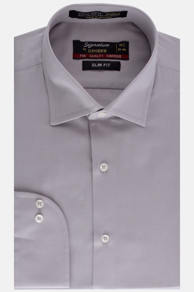 Formal Man Shirt in Grey AB19359 Slim Fit