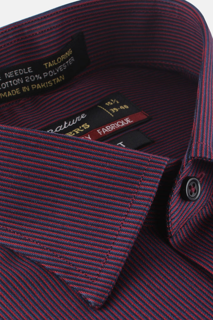 Formal Man Shirt in Maroon AB19359 Slim Fit