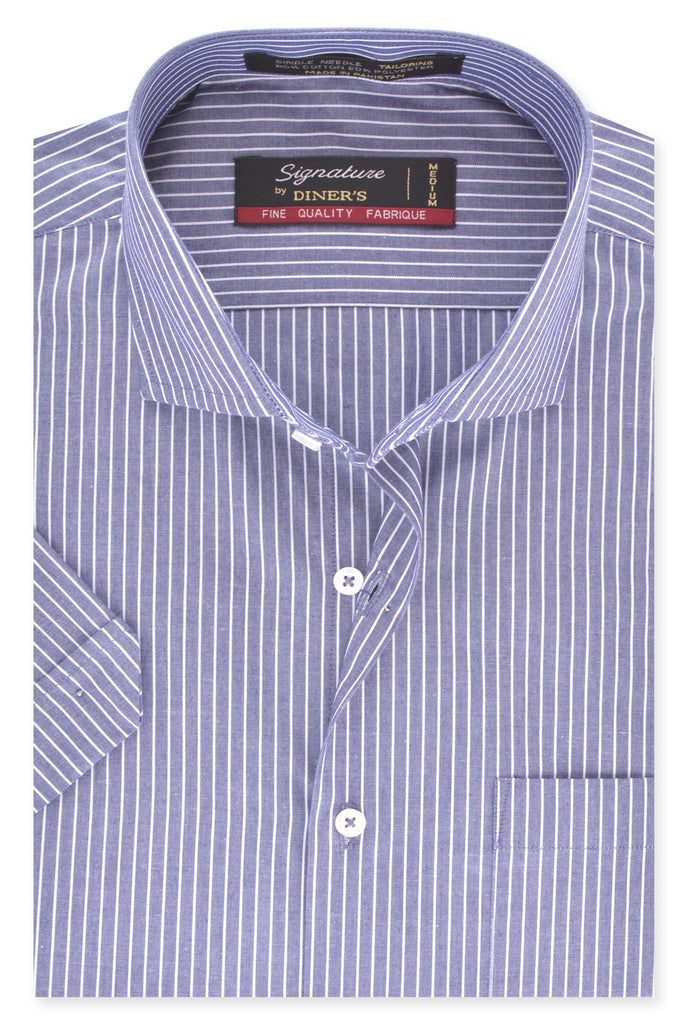 Formal Man Shirt in Grey (Half Sleeves) SKU: AB19396-GREY - Diners