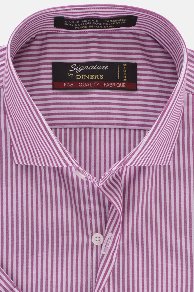 Formal Man Shirt in D-Purple (Half Sleeves) SKU: AB19397-D-PURPLE