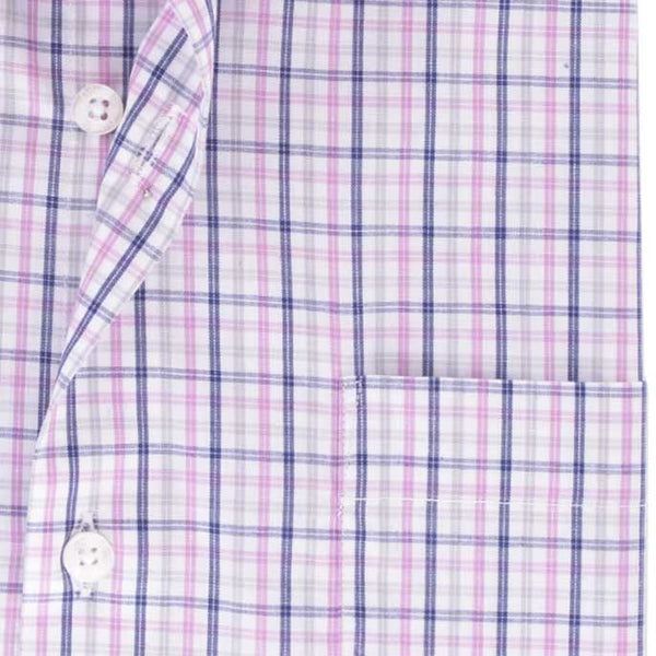 Formal Men Shirt in Purple (Half Sleeves) SKU: AB19399-PURPLE