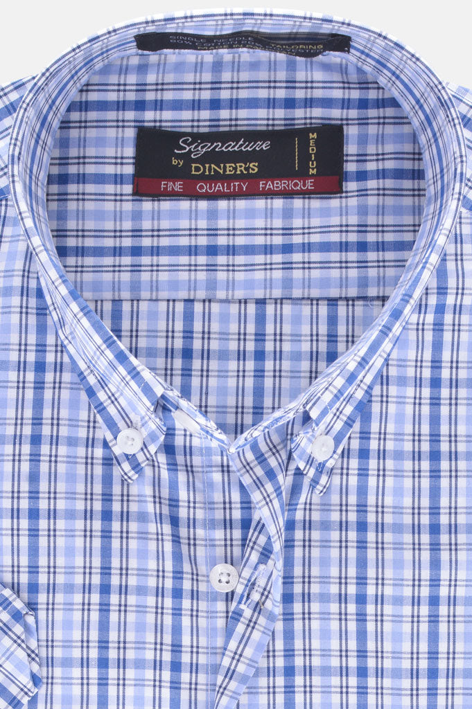 Formal Men Shirt in Blue (Half Sleeves) SKU: AB19406-BLUE
