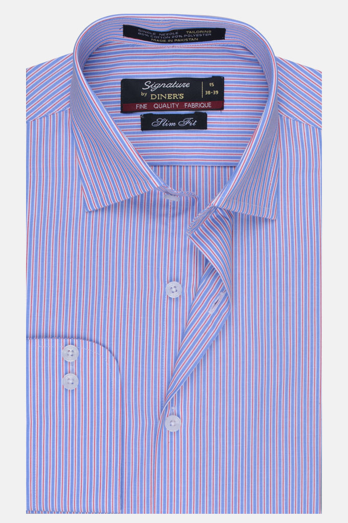 Formal Man Shirt in Blue SKU: AB19523-Blue - Diners