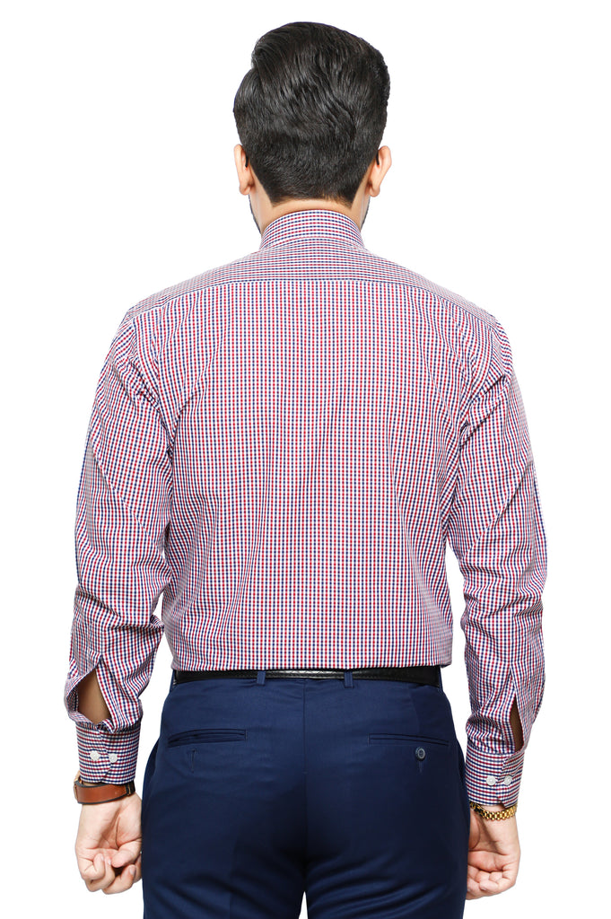 Formal Man Shirt in Maroon SKU: AB19543-Maroon - Diners