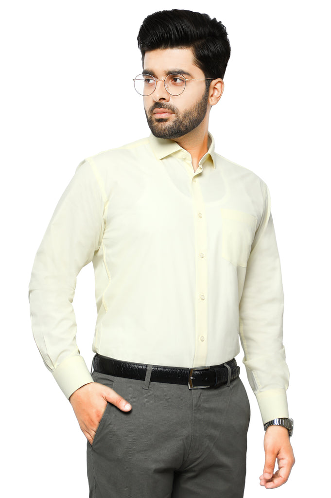 Formal Plain Shirt in CREAM SKU: AB203-CREAM - Diners