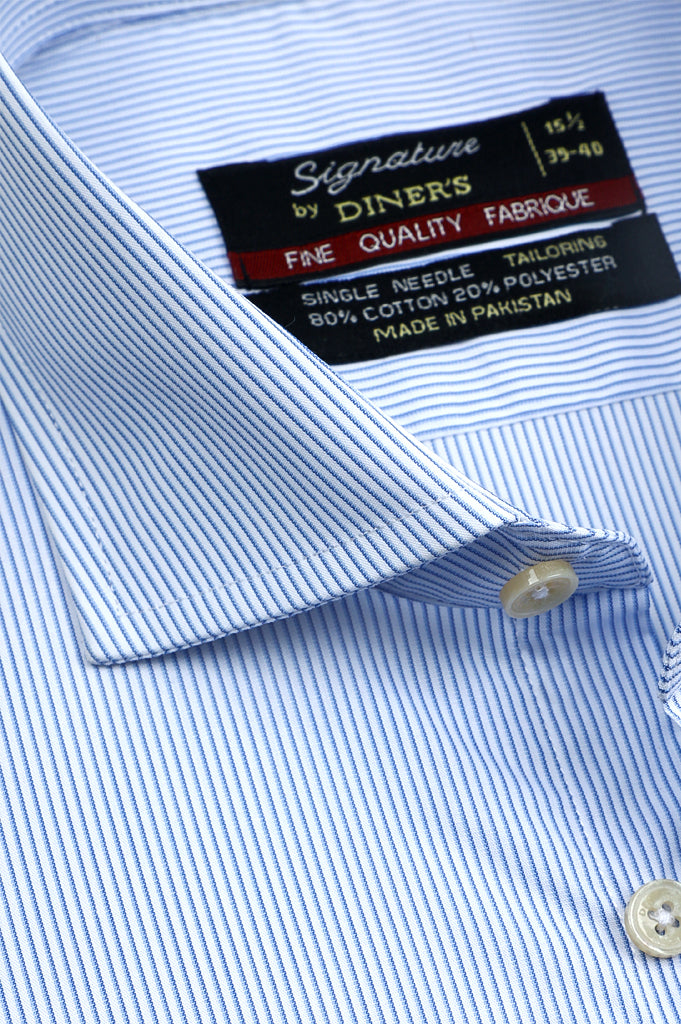 Formal Man Shirt SKU: AB20471-L-BLUE - Diners