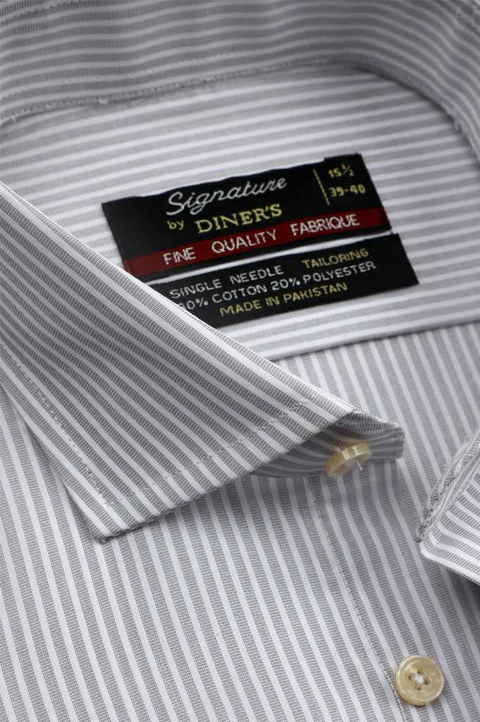 Formal Man Shirt SKU: AB20479-L-GREY - Diners
